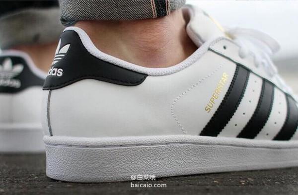 国内 999,adidas 阿迪达斯 三叶草 Superstar 80S 经典贝壳头运动鞋 两款 39.26 免费直邮