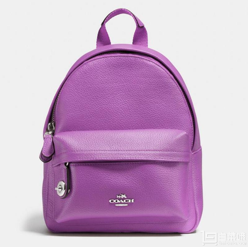 coach 蔻驰 女士迷你campus backpack真皮双肩包 2色图片